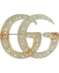 e83141ef5 Gucci Marmont Sterling Silver Flower Logo Stud Earrings - Silver in ...