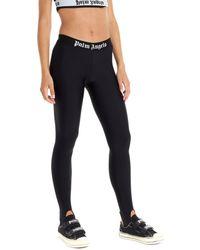 Palm Angels Sport Logo Leggings - Black