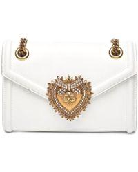 eccc360d091 Lyst - Dolce & Gabbana Mini Von Wallet Crossbody Bag in Pink