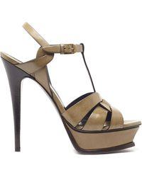 Saint Laurent - 'tribute' Platform Sandals - Lyst