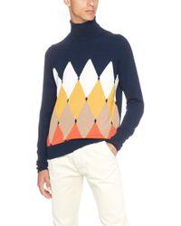 Ballantyne - Cashmere Intarsia Knit Sweater - Lyst