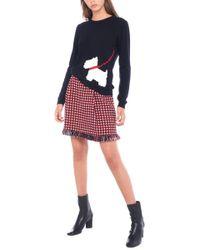 Boutique Moschino - Scotty Dog Intarsia Sweater - Lyst