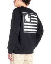c234ab3fbd Carhartt WIP State Flag Sweatshirt Black in Black for Men - Lyst