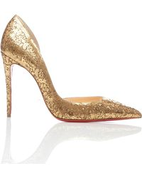 8c10d580e15 Lyst - Christian Louboutin Iriza Strass Crystal Pumps in Metallic