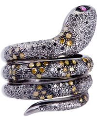 Kirat Young - Snake Ring - Lyst