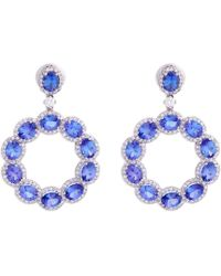 Sanjay Kasliwal | Tanzanite Round Earrings | Lyst