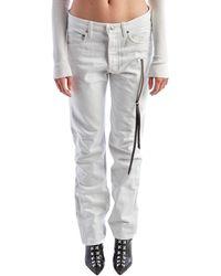 Olivier Theyskens - White Straight Leg Jeans - Lyst