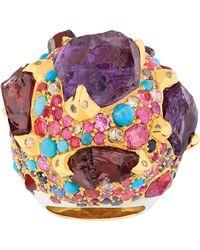Sylvie Corbelin - Purple Multi Gemstone Ring - Lyst