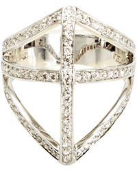 Campbell - Diamond Shield Ring - Lyst