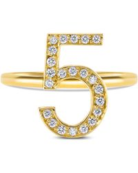 Sarah Ho Numerati Fancy Diamond Lucky Number 8 in White - Lyst