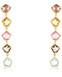 Sanjay Kasliwal - Long Semiprecious Gemstone Earrings - Lyst