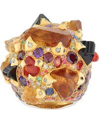 Sylvie Corbelin - Orange Multi Gemstone Ring - Lyst