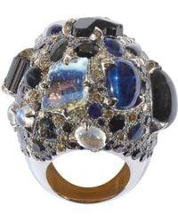 Sylvie Corbelin - Black Multi Gemstone Ring - Lyst