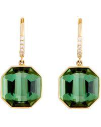 Sidney Garber - Green Tourmaline Earrings - Lyst