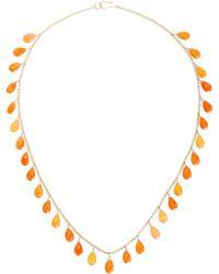 Sanjay Kasliwal | Carnelian Cabochon Drop Necklace | Lyst