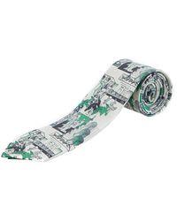 Prada - Dna Green Twill Tie - Lyst