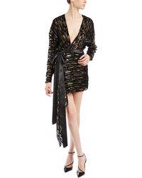Alexandre Vauthier - Leopard V-neck Dress - Lyst