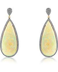 Syna 18kt Ethiopian Opal & Diamond Earrings ExntF5UHT