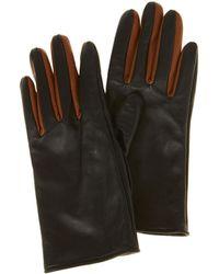 Karen Millen - Contrasting Gloves - Black - Lyst