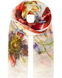 Karen Millen - Botanical Print Scarf - Lyst