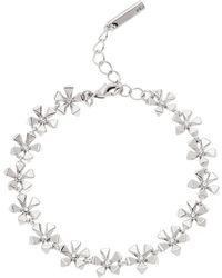 Karen Millen - Petite Geo Flower Bracelet - Silver Colour - Lyst