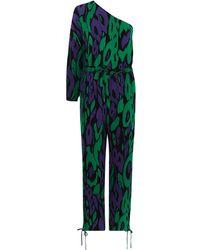 Karen Millen - Animal Print Jumpsuit - Lyst