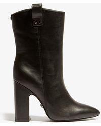 2957d6030ed karen millen knee high boots in green lyst