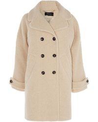 Karen Millen - Tailored Teddy Coat - Lyst