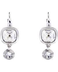 Karen Millen - Milano Stone Drop Earrings - Silver Colour - Lyst