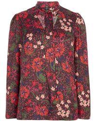 Karen Millen - Floral Relaxed Blouse - Lyst
