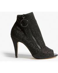 9f6f12ca77 Lyst - Karen Millen Suede Shoe-boots - Black in Black