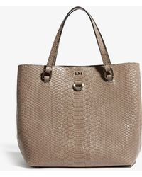 9049b522a8e Karen Millen Contrast Perforated Tote in Black - Lyst