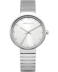 Karen Millen - Chain Link Watch - Silver Colour - Lyst