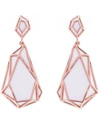 Karen Millen - Shard Drop Earrings - Lyst