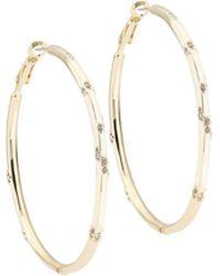 Karen Millen - Leopard Hoop Earring - Lyst