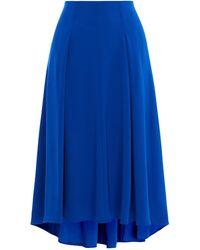 Karen Millen - Soft Pleat High Low Skirt - Lyst