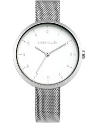 Karen Millen - Metallic Mesh Watch - Km - Lyst