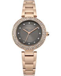 Karen Millen - Crystal Embellished Watch - Rose Gold Colour - Lyst