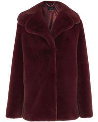 Karen Millen - Relaxed Faux Fur Jacket - Lyst