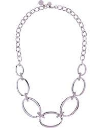 Karen Millen - Over Size Chain Necklace - Km - Lyst
