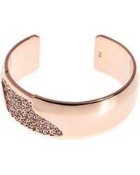 Karen Millen - Sparkling Wide Cuff - Rose Gold Colour - Lyst