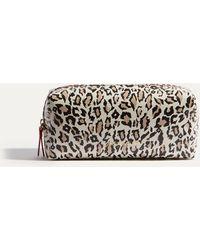 Karen Millen - Leopard Travel Washbag - Lyst