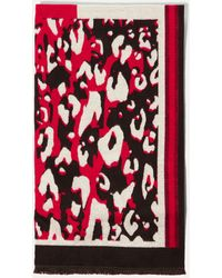 Karen Millen - Leopard Print Scarf - Lyst