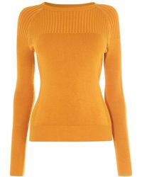 8a3348dab12 Lyst - Karen Millen Metallic Turtleneck Jumper - Gold in Metallic
