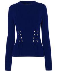 Karen Millen - Lace-up Sweater - Lyst