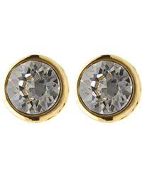 Karen Millen - Round Stud Earrings - Gold Colour - Lyst