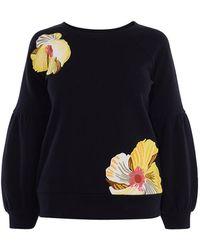 Karen Millen - Floral Embroidered Sweatshirt - Lyst