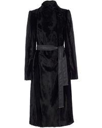 Karen Millen - Textured Longline Coat - Lyst