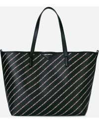 Karl Lagerfeld - K/stripe Logo Shopper - Lyst