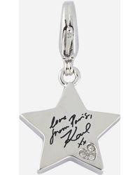 Karl Lagerfeld - Silver Karl Star Charm - Lyst